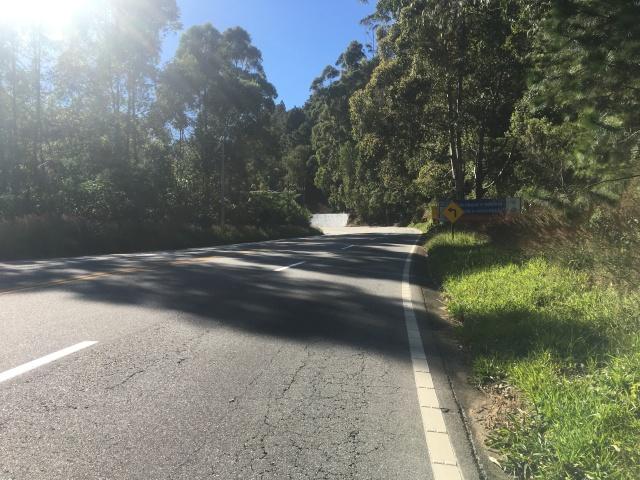 Subindo a Serra Nova de Campos - Km 15